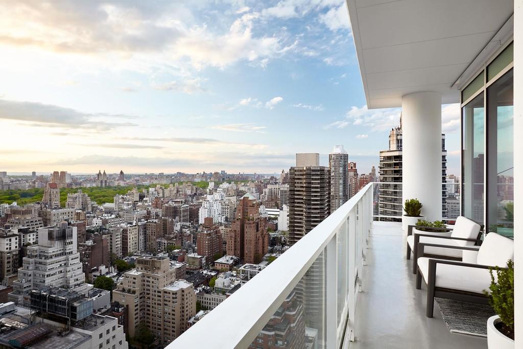 New York City view from Manhattan condo balcony.