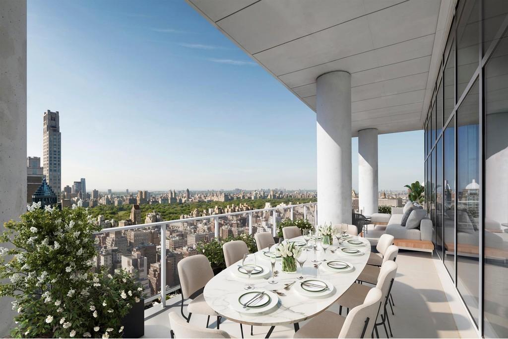 Balcony view from Manhattan luxury home.
